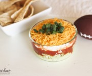 light avocado layer dip