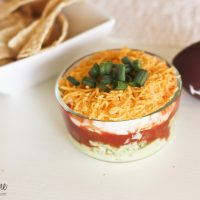 Lightened Avocado Layer Dip