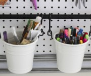 paintbrush and market buckets