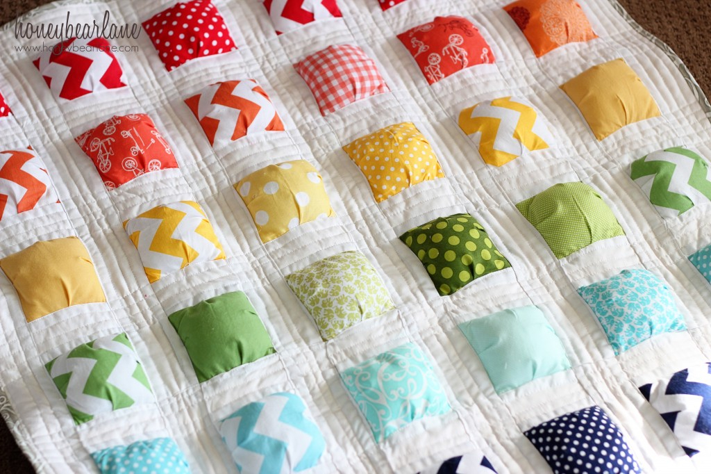 Free Pattern For Baby Puff Quilt : New Puff Quilt Pattern: Puffy Island