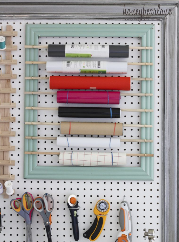 extra large pegboard for craft room organization. Black Bedroom Furniture Sets. Home Design Ideas