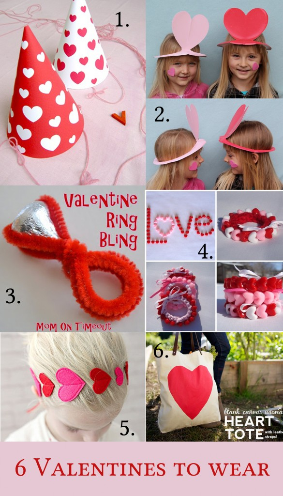 6 valentines to wear