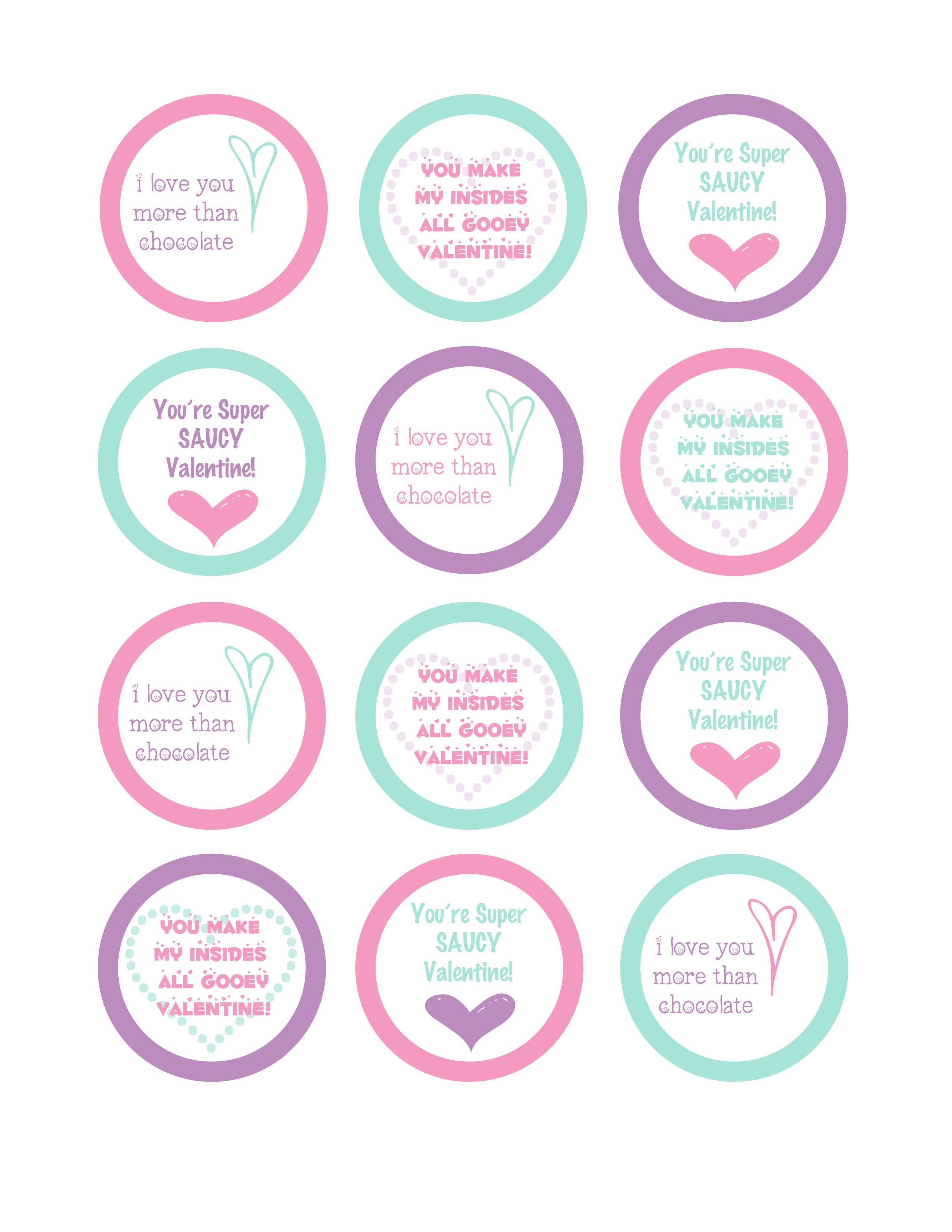 Valentine Printable Labels — Crafthubs