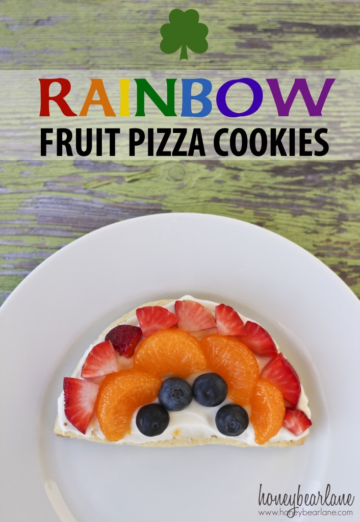 rainbow fruit pizza cookies