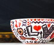 sharpie doodle love bowl