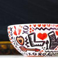 """LOVE """"Doodle"""" Bowls–Sharpie Art"""