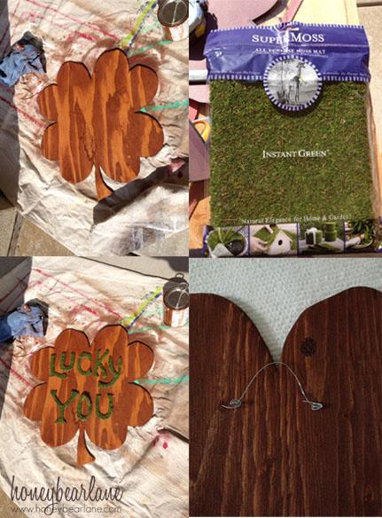 st patricks day plywood wreath