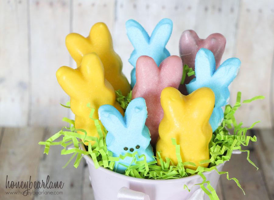 Easter peeps bouquet honeybear lane
