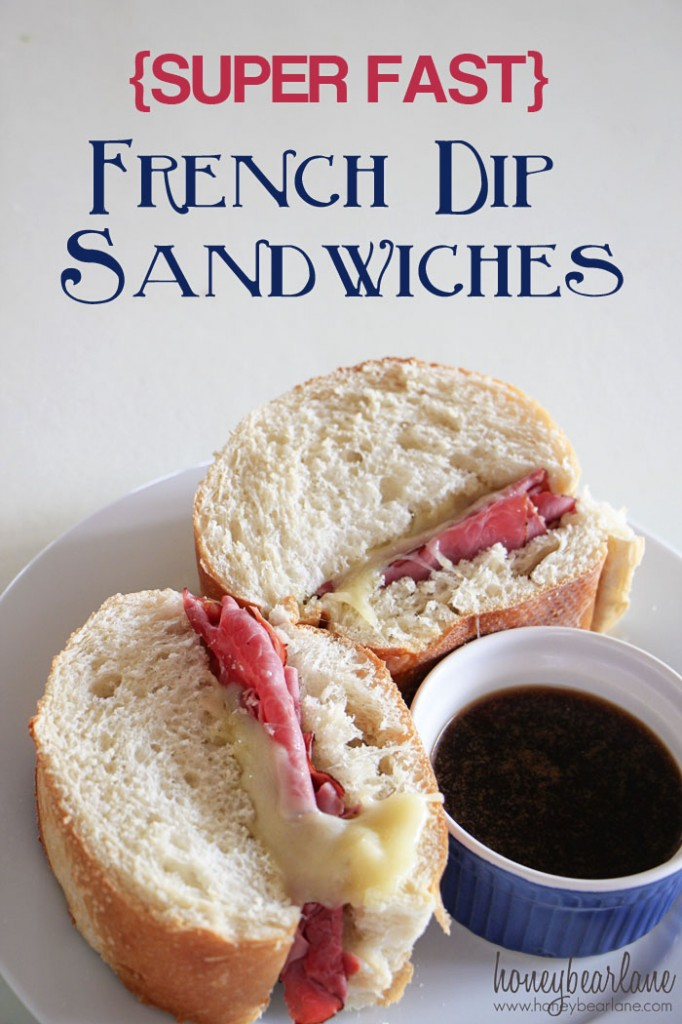 SUPER FAST French Dip Sandwiches