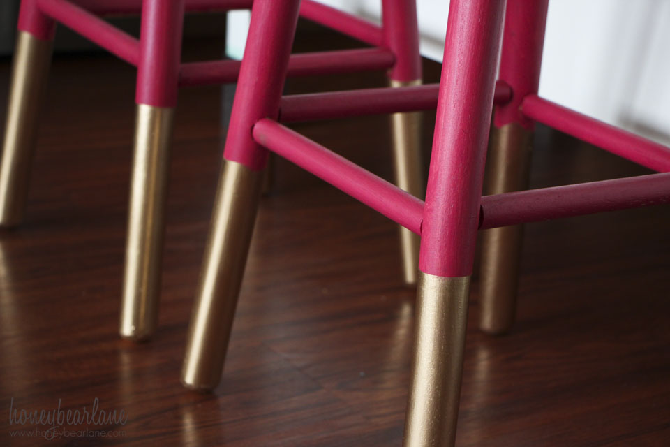 gold dipped bar stool legs