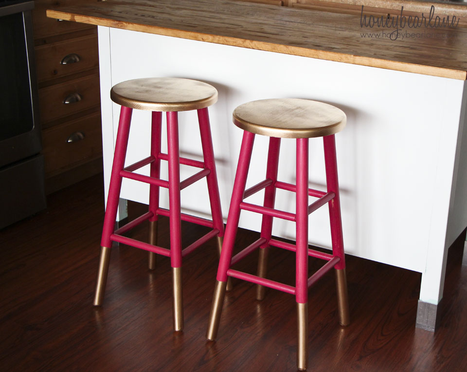 Gold Dipped Bar Stools