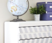 herringbone painted dresser