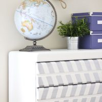 Silver Herringbone Painted Dresser