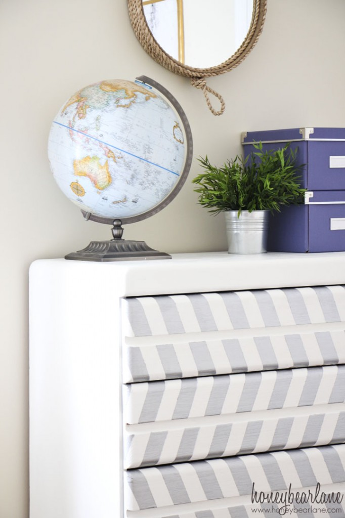 herringbone painted dresser