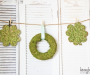 split pea shamrocks kids craft