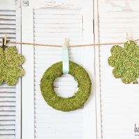Kids Craft Ideas: Split-Pea Shamrocks