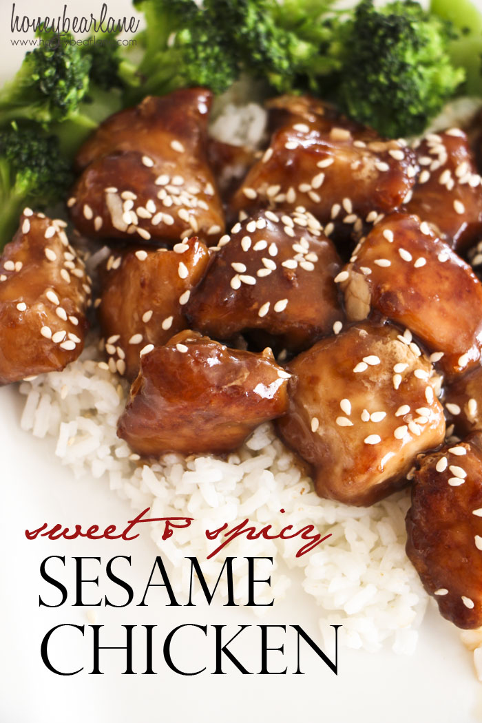 Sweet and spicy sesame chicken honeybear lane sweet and spicy sesame chicken forumfinder Images