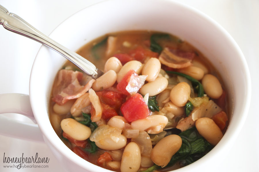 ... bean stew with tomatoes and spinach white bean and ham soup white bean