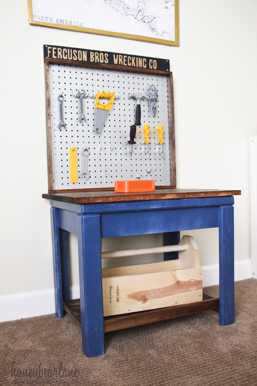 kids wooden workbench plans
