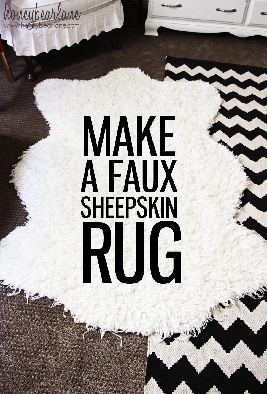 Make a Faux Sheepskin Rug Honeybear Lane