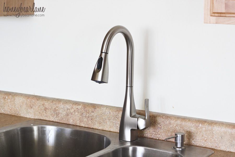 How To Replace A Kitchen Faucet - Honeybear Lane