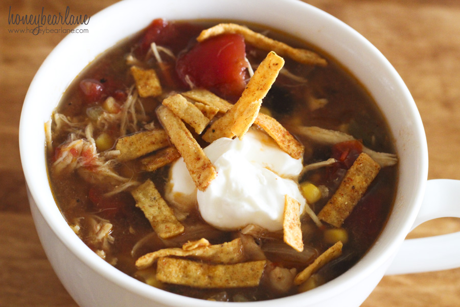 chicken tortilla soup in a crockpot