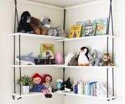 corner rope shelves nursery