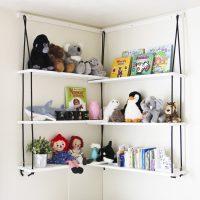 Corner Rope Shelves DIY