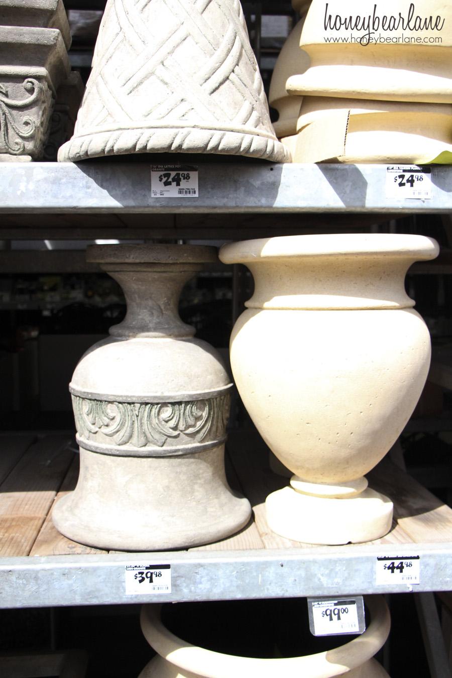 shopping at home depot honeybear lane flower pots at home depot