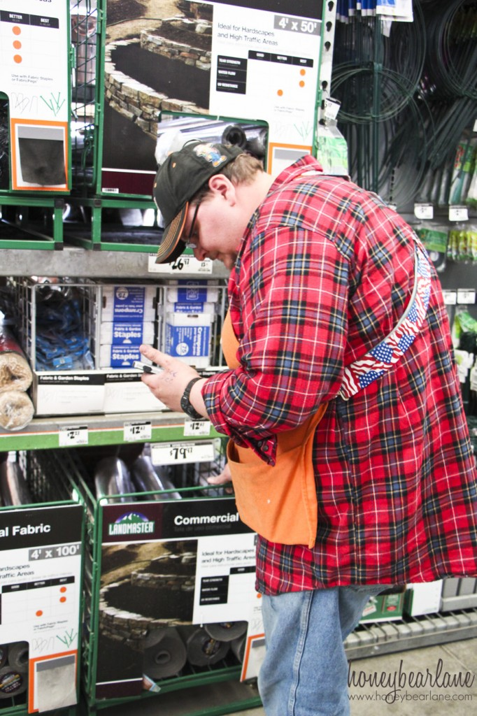 justin helping me at home depot