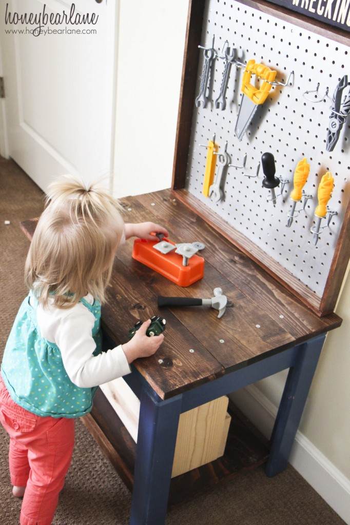 Kids Workbench From Old Table Honeybear Lane