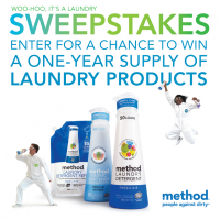 Win a Year's Worth of Method Laundry Detergent!
