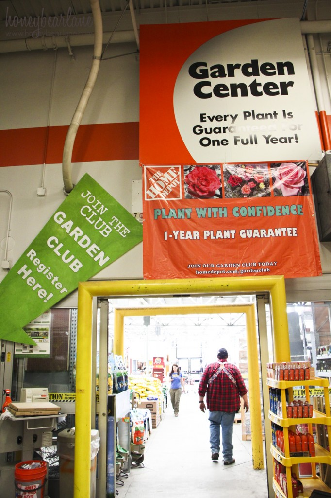 the garden center at the home depot