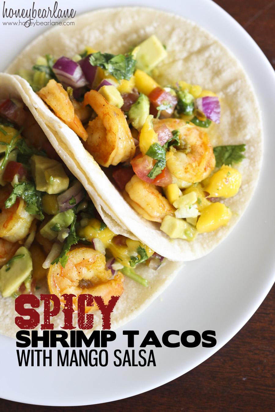 Spicey Shrimp Tacos with Mango Salsa