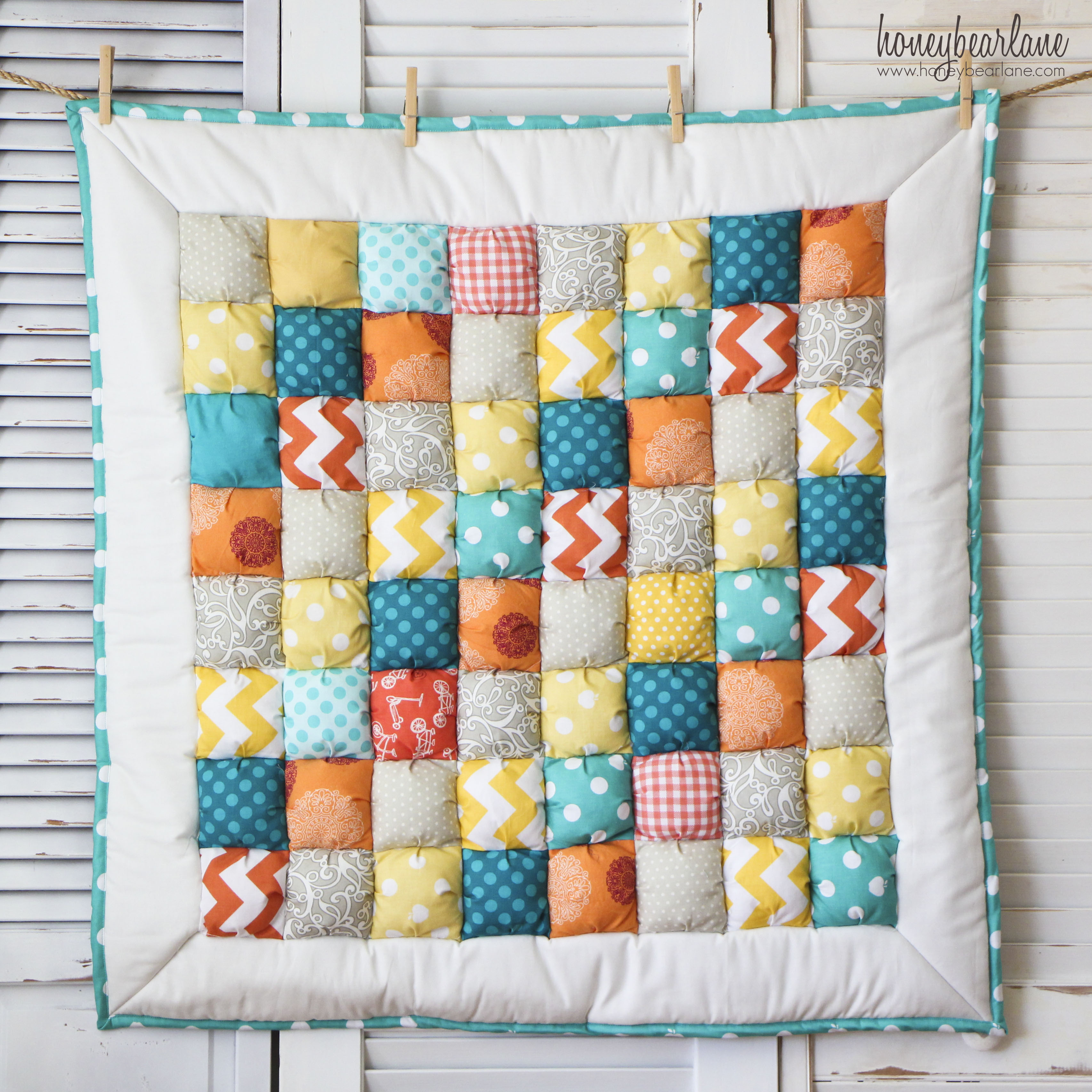 Free Pattern For Baby Puff Quilt : New Puff Quilts and An Announcement - HoneyBear Lane