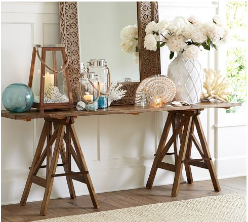 Pottery Barn Knockoff Sawhorse Console Table Honeybear Lane