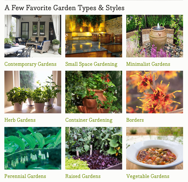 Garden types and styles from hgtvgardens.com