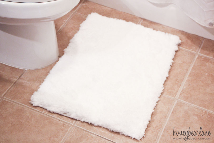 plush bathroom rug