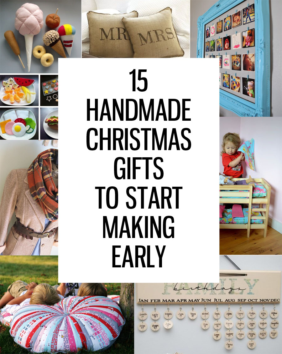 15 Handmade Christmas Gifts to Start Making Now - Honeybear Lane