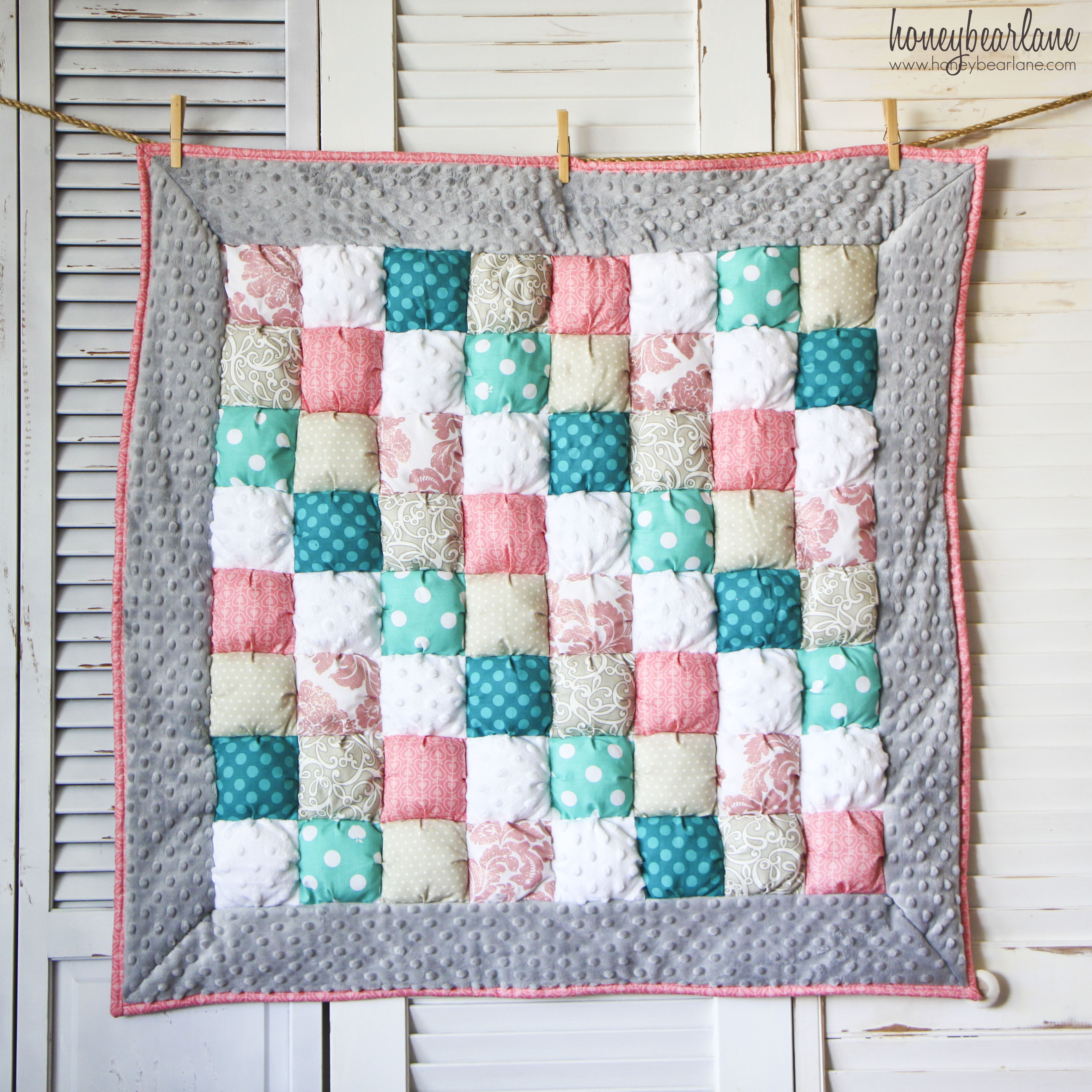 Free Pattern For Baby Puff Quilt : The Last Three Puff Quilts - Honeybear Lane