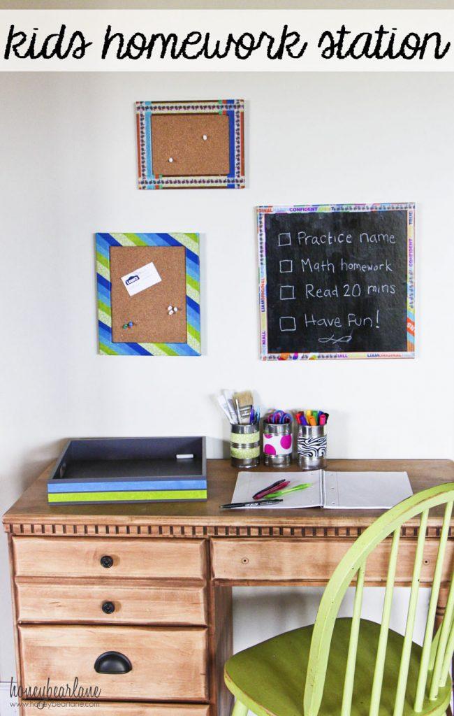 kids homework station