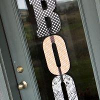 Mod Podge Halloween Door Hanger Craft
