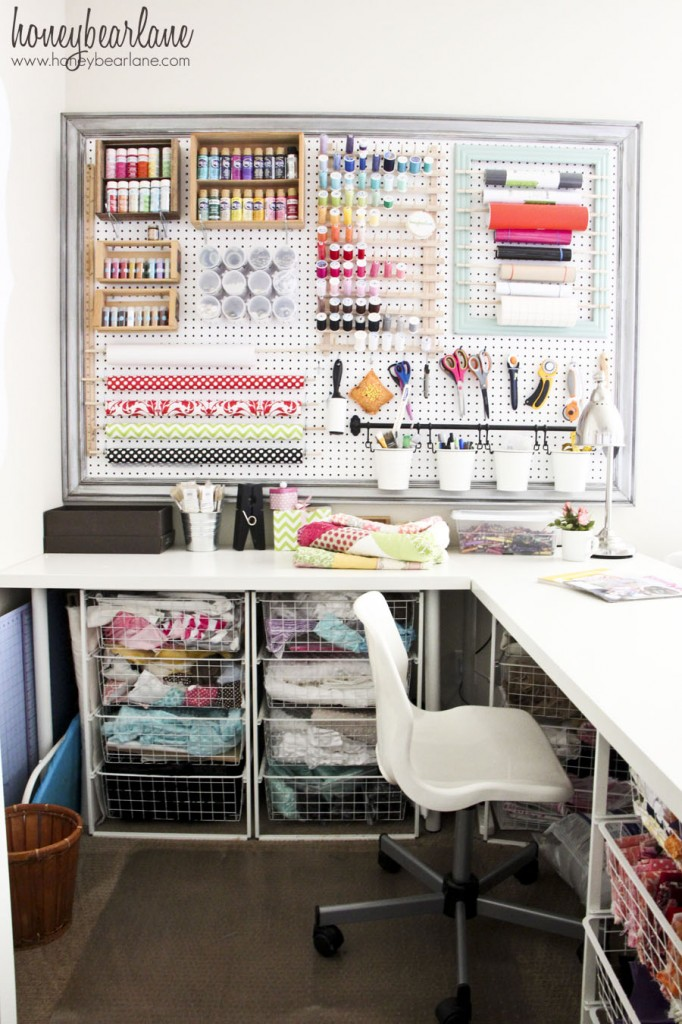 crafting space for a small home