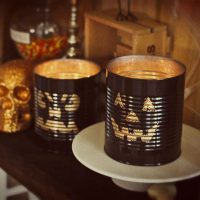Halloween Tin Can Luminaries