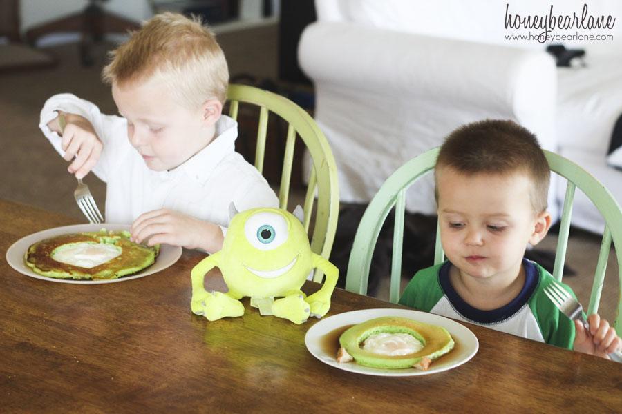 monsters university pancakes
