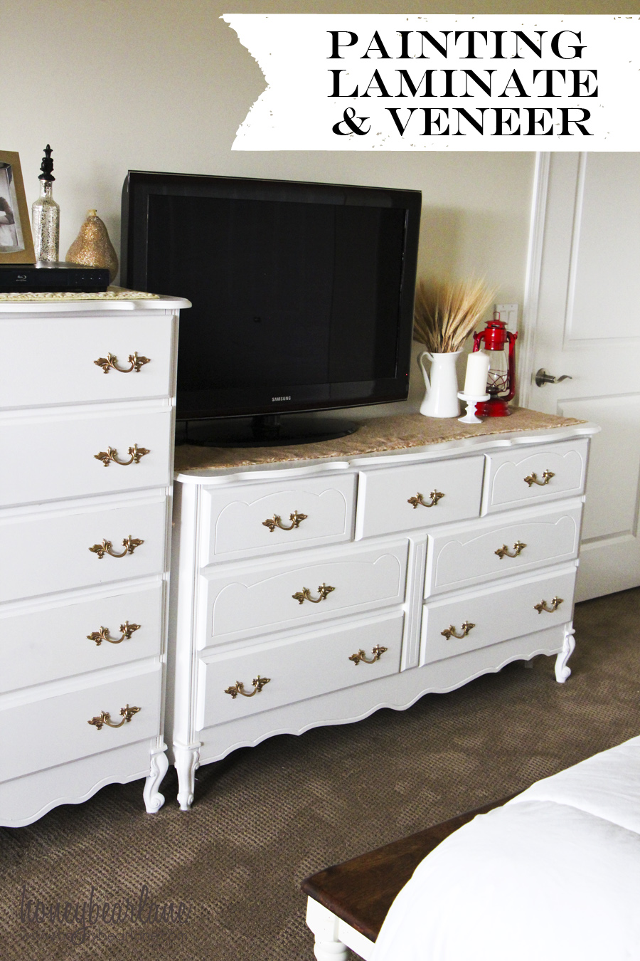 How To Paint A Laminate Dresser Black
