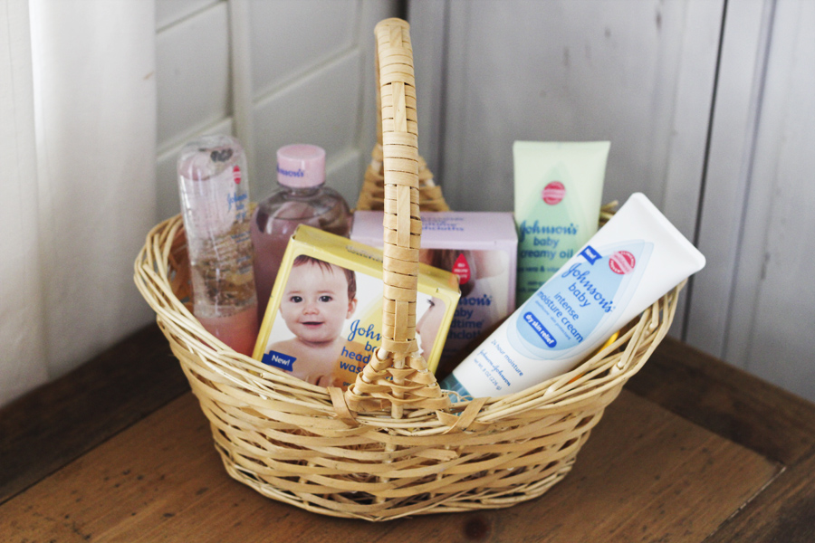 johnsons baby skin care basket