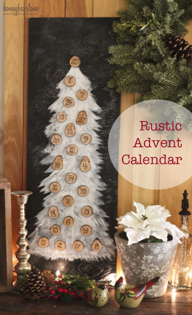 rustic advent calendar