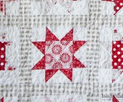 sawtooth star quilt up close
