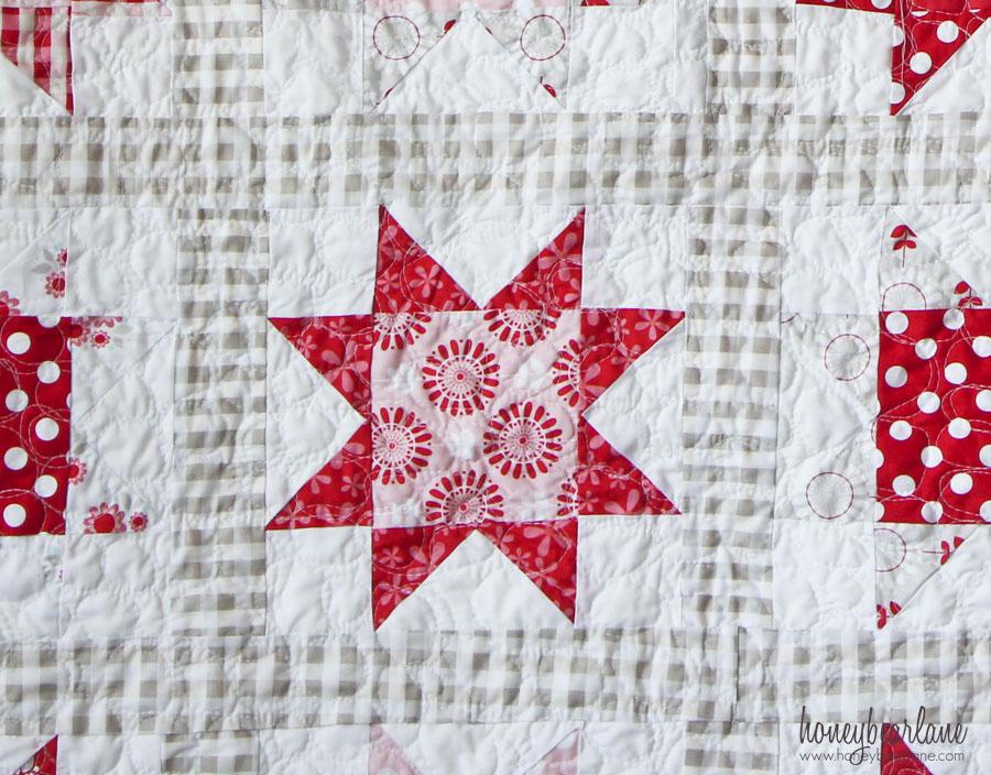 sawtooth star quilt up close